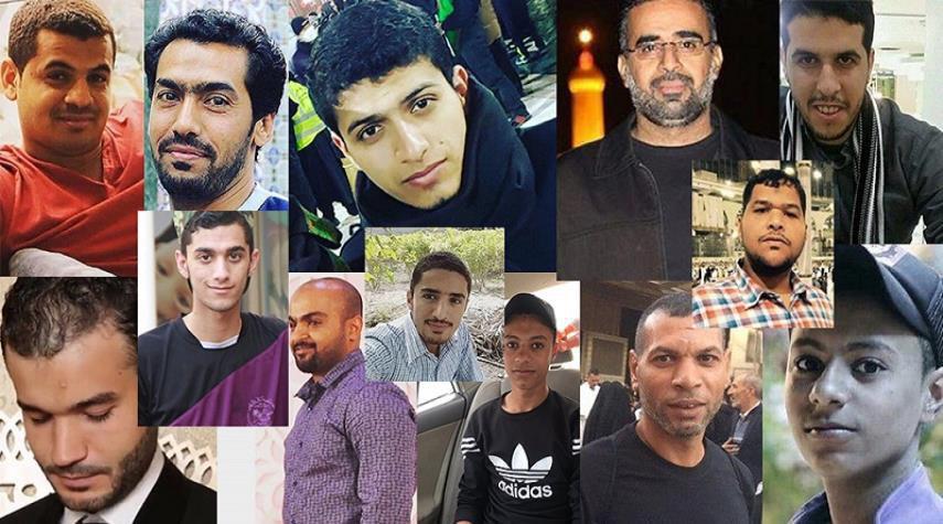 تصویر دستگیری  ۱۴ جوان شیعه بحرینی  توسط نیروهای آل خلیفه