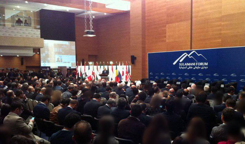 تصویر شرکت هیئت گفتگوی موسسه النبا در تالار گفتمان بین المللی سلیمانیه