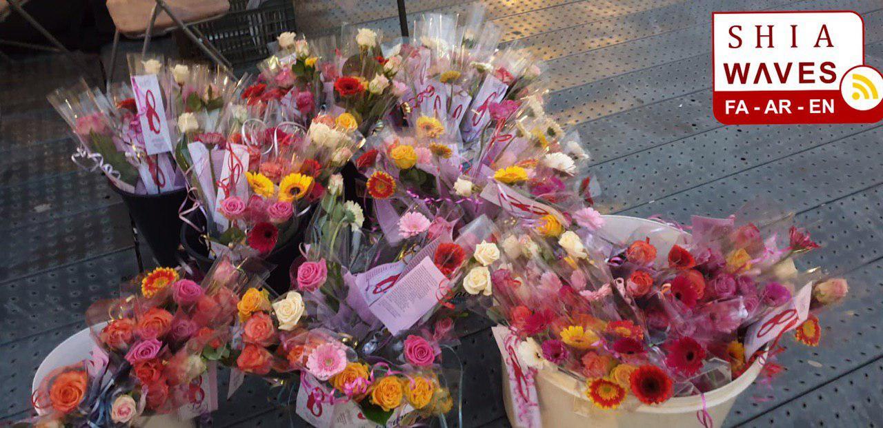 تصویر معرفی حضرت زهرا سلام الله علیها  در روز جهانی زن در هلند