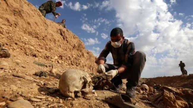 تصویر کشف یک گور دسته جمعی بزرگ در شمال عراق