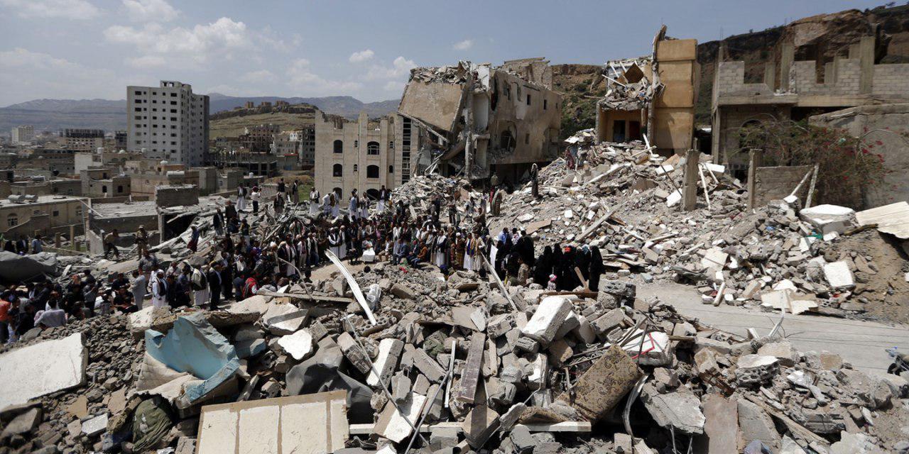 تصویر نیم میلیون بمب و موشک طی ۴ سال بر سر مردم یمن ریخته شد