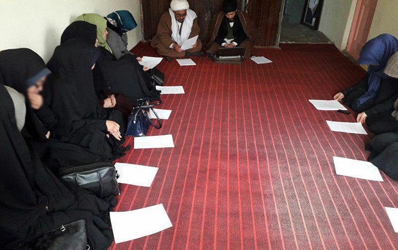 تصویر برگزاری جلسه مدیریت و مسئولان اداری حوزه علمیه فاطمه معصومه سلام الله علیها در شهر کابل