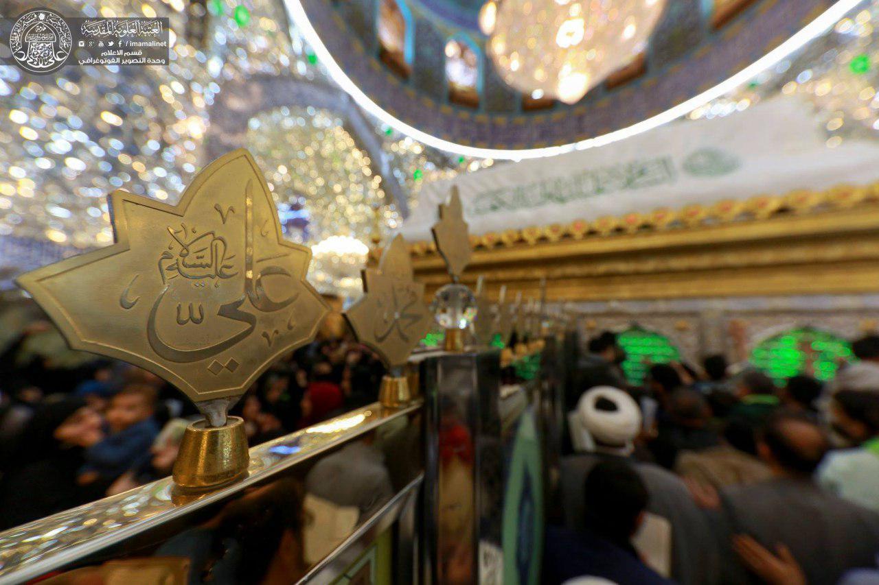 تصویر گزارش تصویری ـ حال و هوای حرم مطهر علوی در شهر مقدس نجف در ایام ولادت حضرت امیر المومنین علی علیه السلام