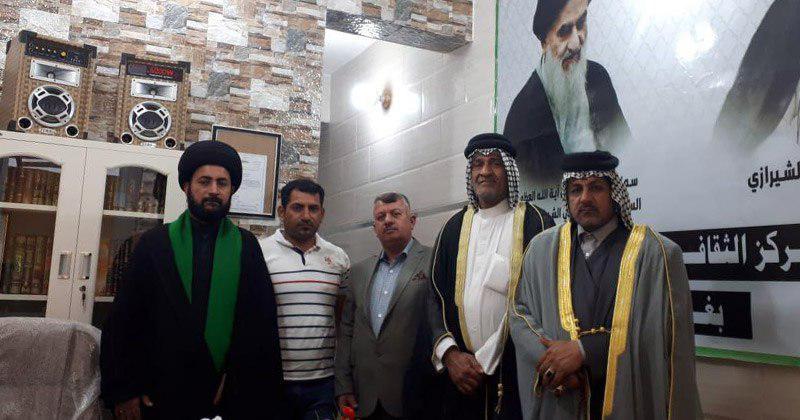 تصویر حضور یکی از فرماندهان استان صلاح الدین در مرکز فرهنگی ـ اسلامی بغداد