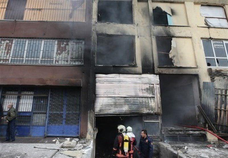 تصویر جان باختن ۵ پناهجو در آتش سوزی ساختمان مهاجران افغان در آنکارا