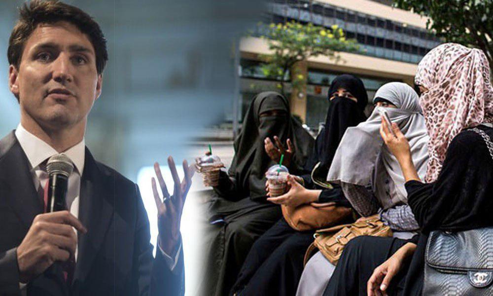 تصویر نخست وزیر کانادا قانون ممنوعیت حجاب در شهر کبک را محکوم کرد