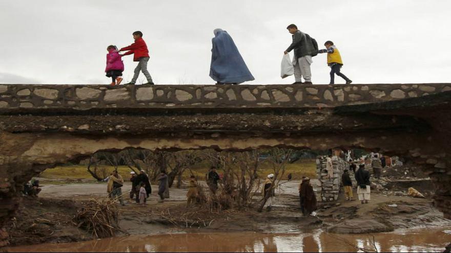 تصویر هشدار به جاری شدن سیل در ۱۶ ولایت افغانستان
