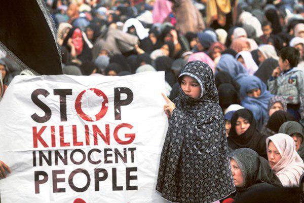تصویر تحصن شیعیان پاکستان در اعتراض به حملات تروریستی سنی های تندرو