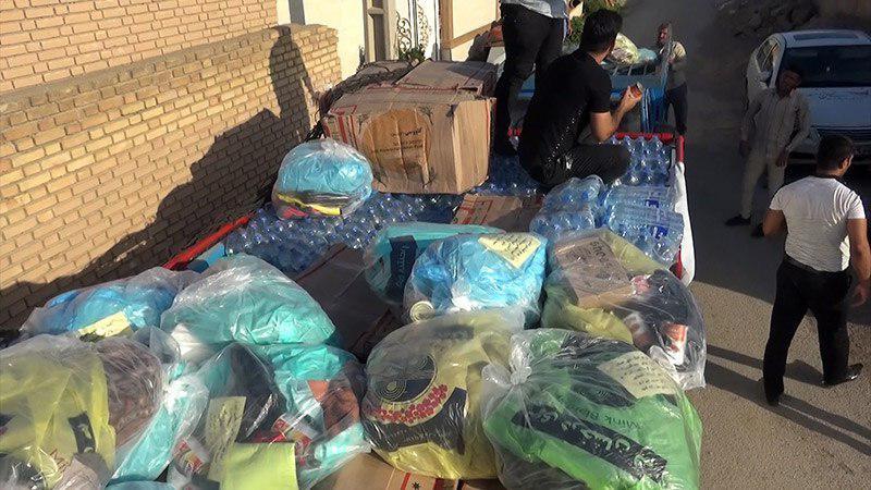 تصویر تحویل سومین محموله کمک های ارسالی دفتر مرجعیت شیعه به مردم سیل زده خوزستان