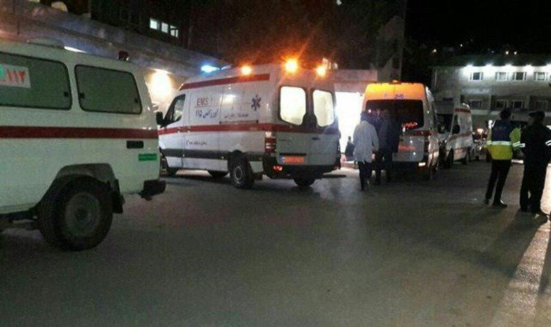 تصویر جان باختن ۵ نفر از زائران جمکران بر اثر واژگونی اتوبوس