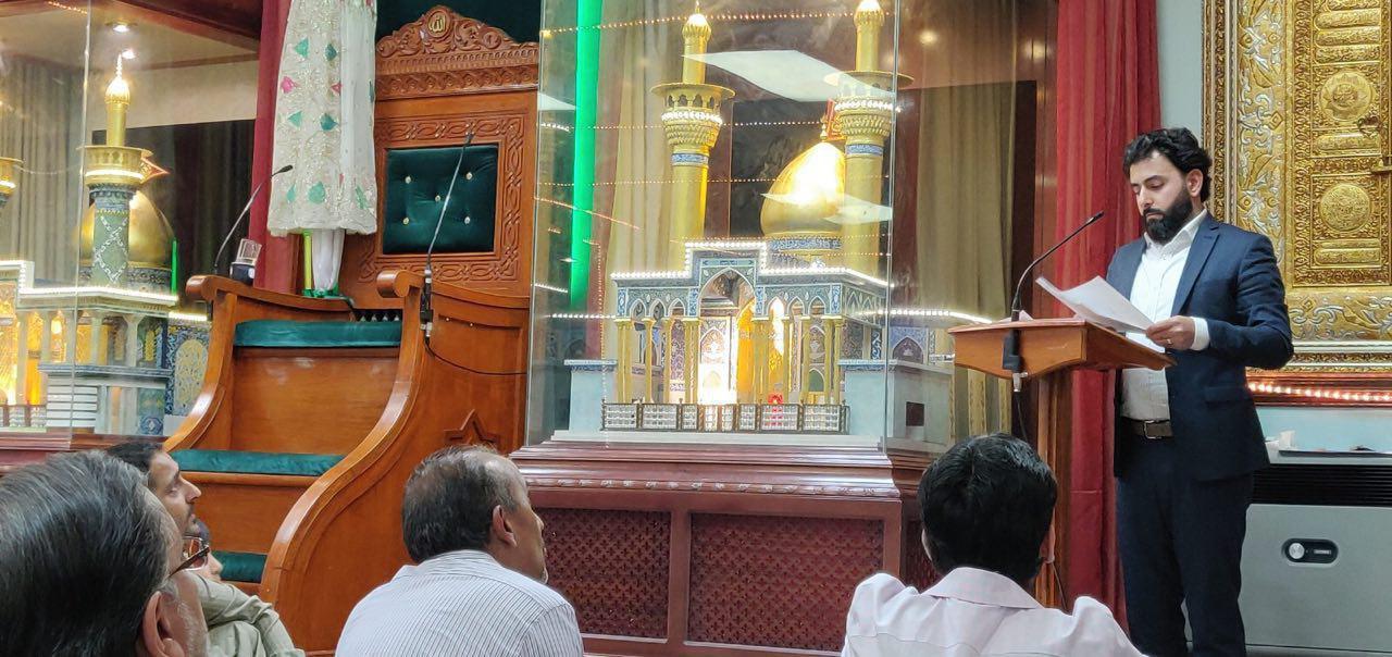 تصویر حضور هیئت مجموعه رسانه ای امام حسین علیه السلام در حسینیه شیعیان بیرمنگام