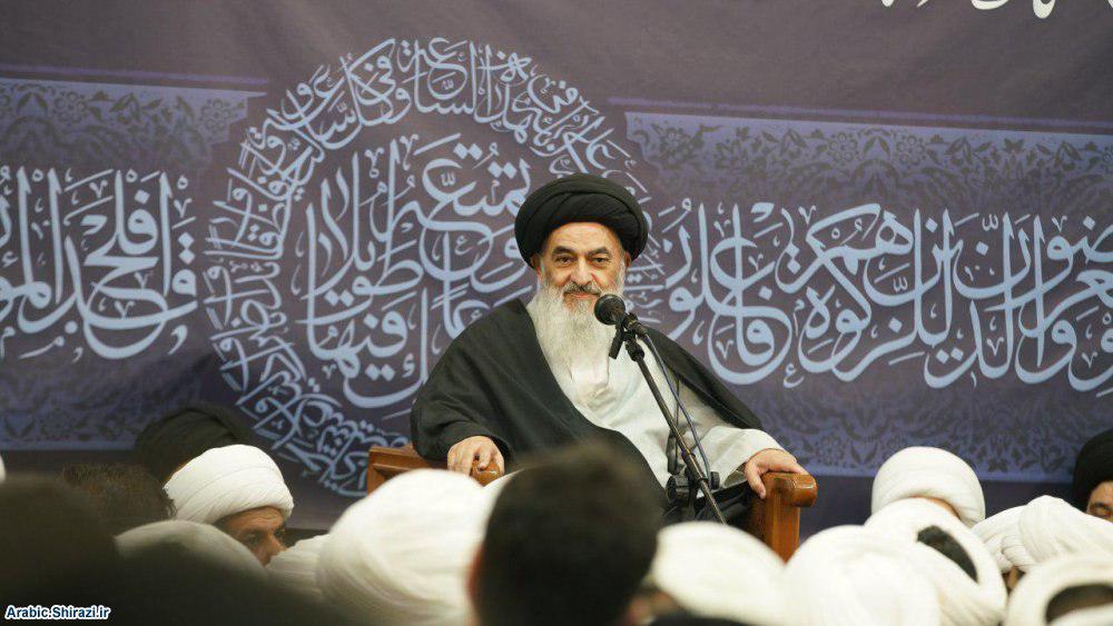 تصویر گردهمایی بزرگ مبلغان با نزدیک شدن به ماه رمضان، در بیت مرجعیت شیعه