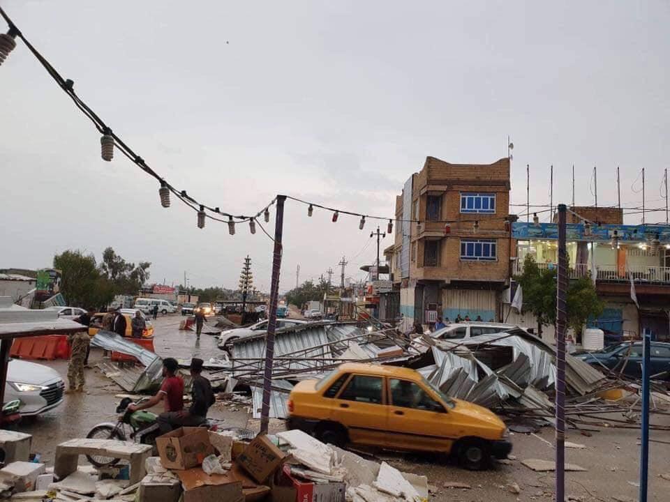 تصویر طوفان شدید در شهرهای کربلا و نجف