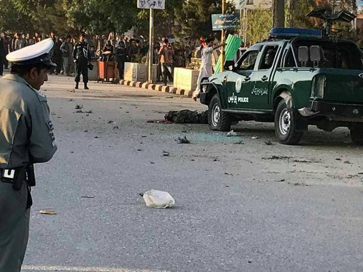 تصویر وقوع انفجار در مزار شریف افغانستان