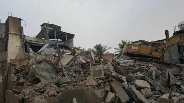 تصویر تخریب منازل در شهرک شیعه نشین السنابس در استان القطیف عربستان سعودی