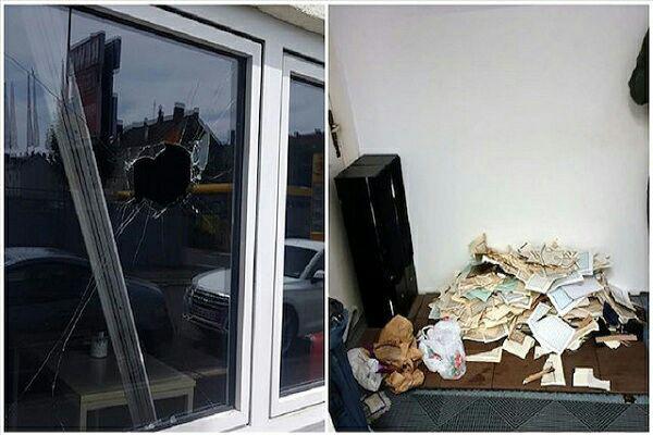 تصویر حمله به دو مسجد و هتک حرمت قرآن کریم در آلمان