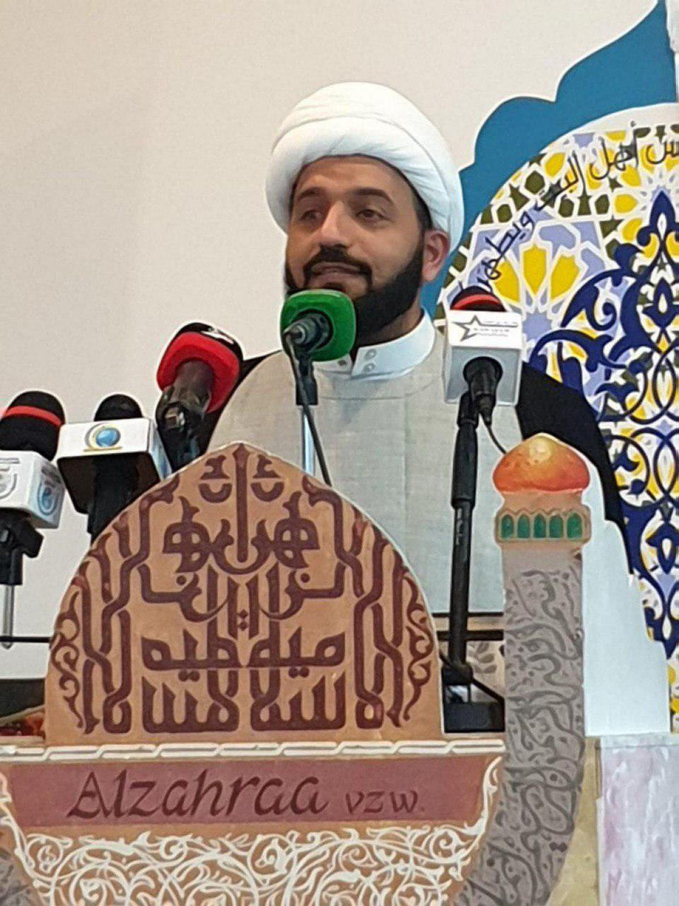 تصویر برپایی هفته فرهنگی حضرت عباس علیه السلام در اروپا