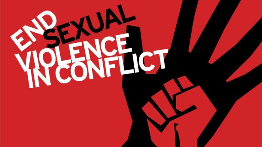 تصویر بیانیه سازمان جهانی نفی خشونت به مناسبت روز جهانی ریشه کنی خشونت جنسی در جریان جنگ ها و منازعات