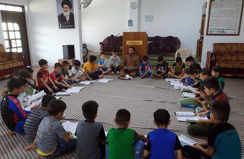 تصویر برگزاری دوره های قرآنی هیئت القرآن الحکیم در استان نینوای عراق
