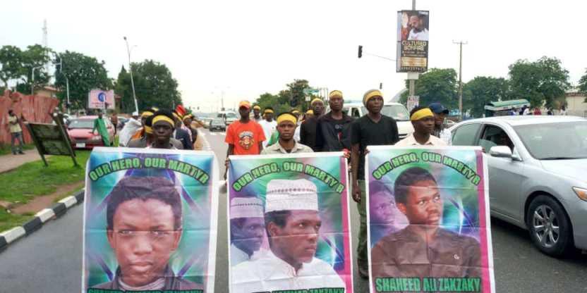 تصویر تظاهرات گسترده مردم نیجریه و درخواست آزادی زندانیان شیعه