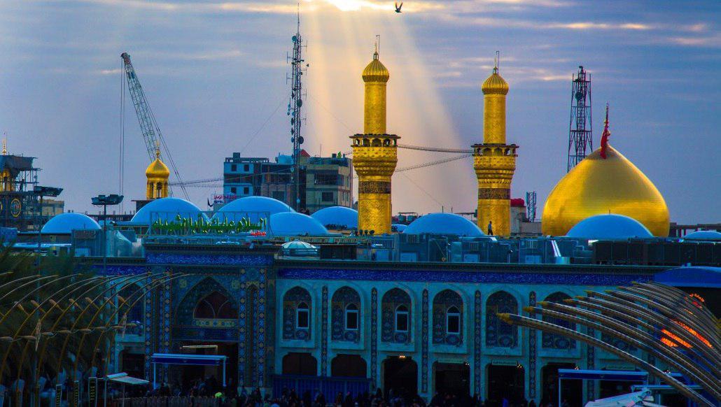 تصویر تکمیل بخش داخلی گنبد جدید حرم امام حسین علیه السلام تا عید غدیر خم