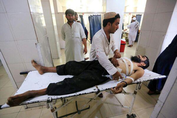 تصویر حمله انتحاری به یک عروسی در افغانستان