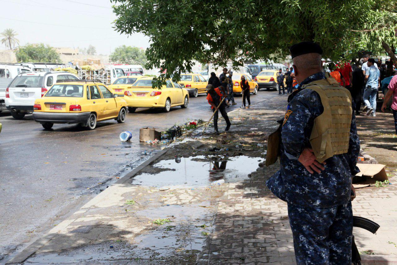 تصویر حمله انتحاری به حسینیهای در جنوب بغداد