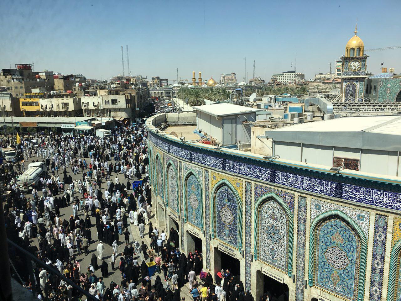 تصویر خیل عظیم زائران حسینی در شهر مقدس کربلا