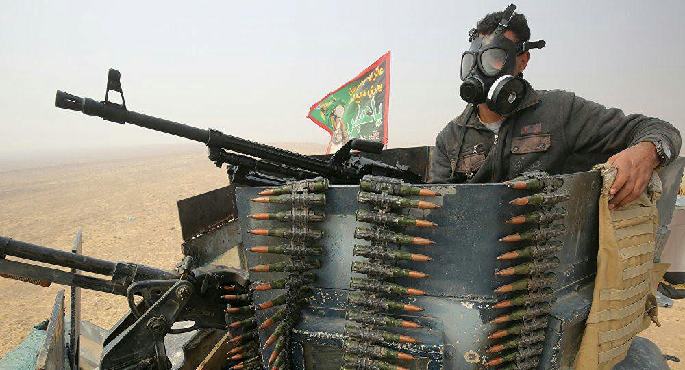 تصویر آغاز مرحله چهارم عملیات اراده پیروزی در عراق با هدف پاکسازی صحرای الانبار