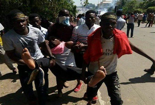 تصویر حمله نیروهای پلیس نیجریه به عزاداران حسینی
