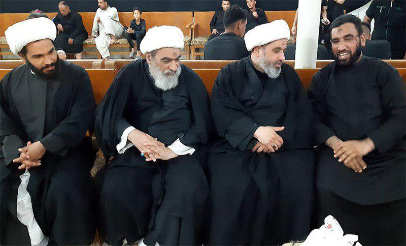 تصویر دیدار اعضای مجمع جهانی هیئات و مواکب حسینی با امام جماعت شهر غماس