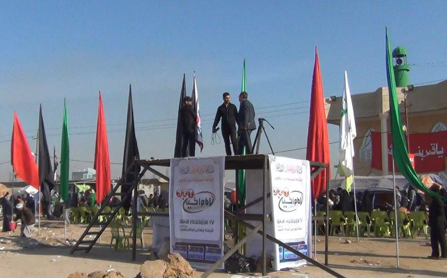تصویر پوشش زیارت میلیونی اربعین حسینی توسط مجموعه رسانه ای امام حسین علیه السلام