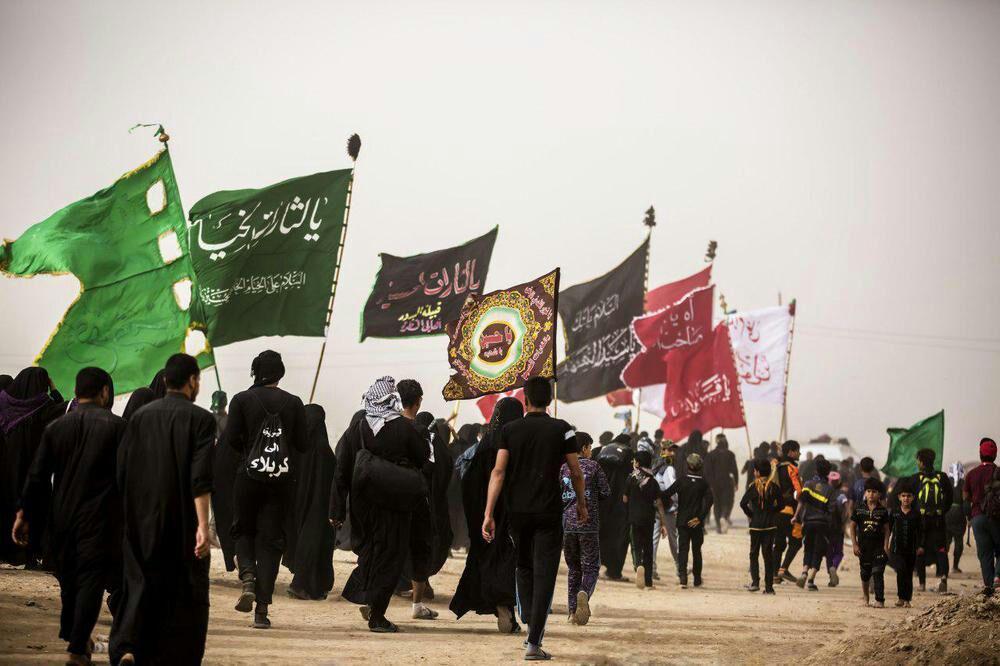 تصویر آغاز پیاده روی اربعین حسینی از جنوبي ترين نقطه عراق
