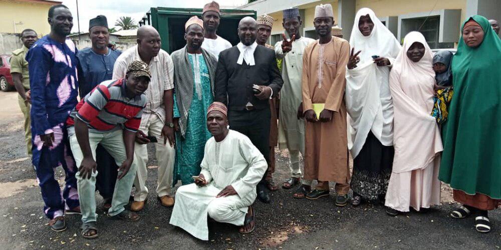 تصویر آزادی زندانیان شیعه نیجریه از اسارت