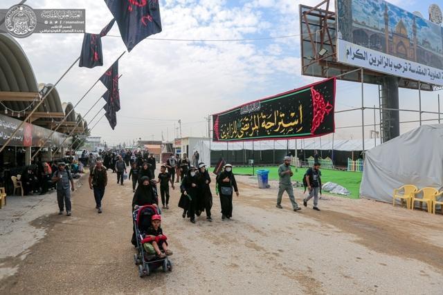 تصویر ارائه خدمات متنوع جهت رفاه زائرین اربعین حسینی در استراحتگاه المرتضی علیه السلام