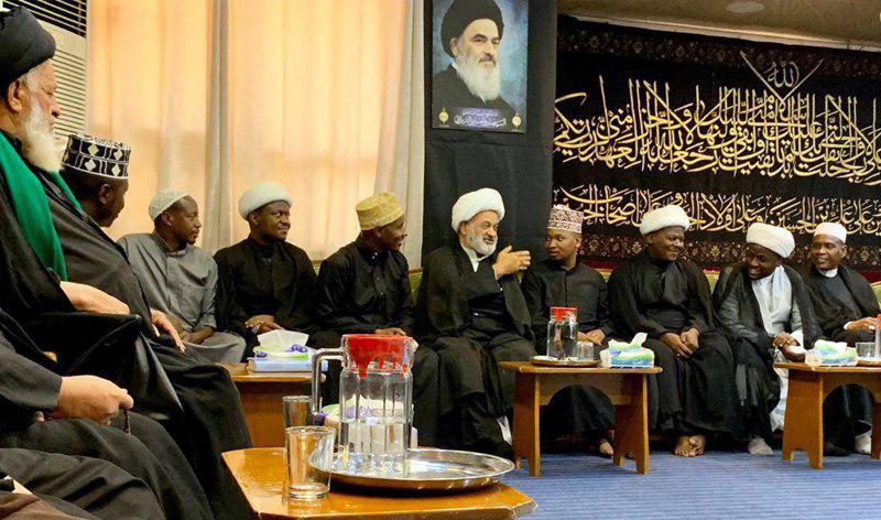 تصویر دیدار جمعی از طلاب کشورهای آفریقایی با نماینده مرجعیت شیعه در نجف