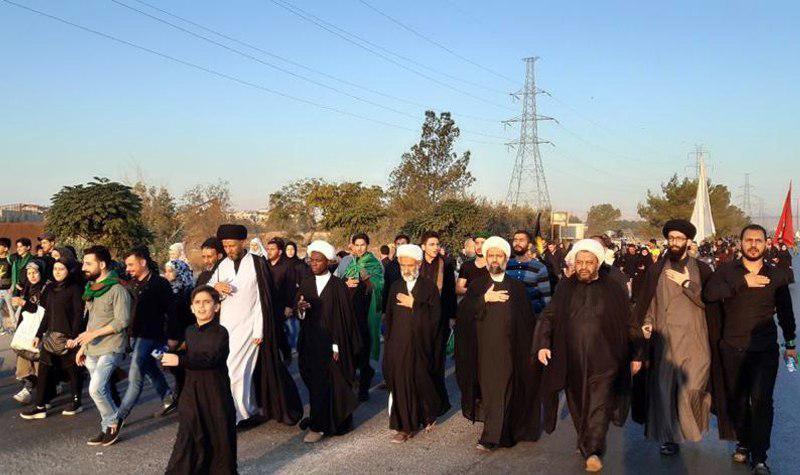 تصویر پیاده روی اربعین حسينى در کشور سوریه