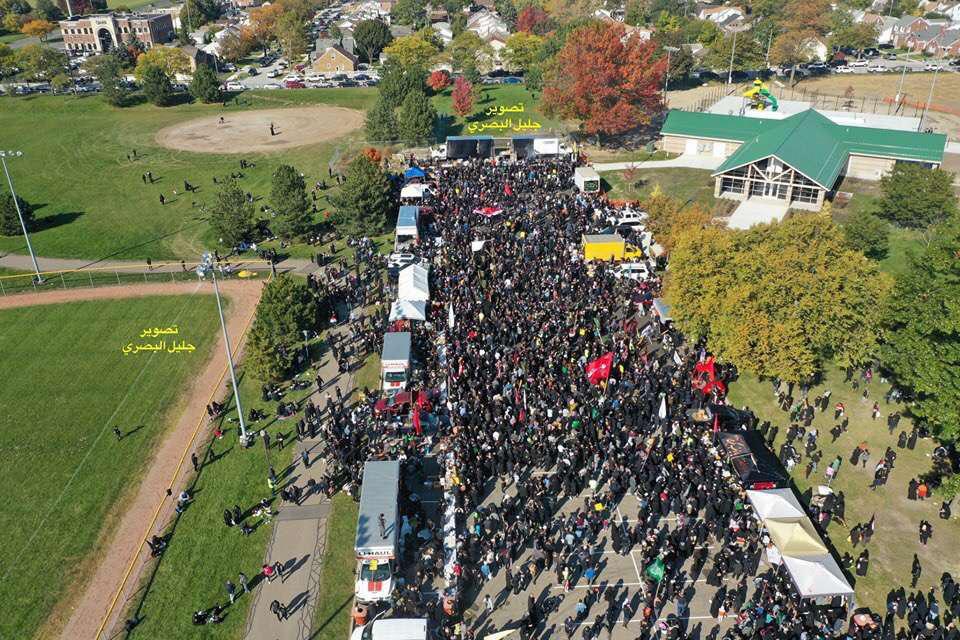 تصویر برگزاری پیاده روی بزرگ اربعین در میشیگان آمریکا