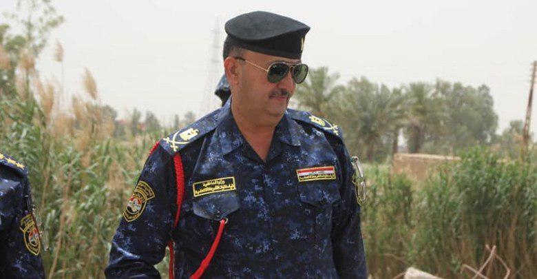 تصویر شهادت فرمانده ارشد پلیس عراق در حمله عناصر داعش