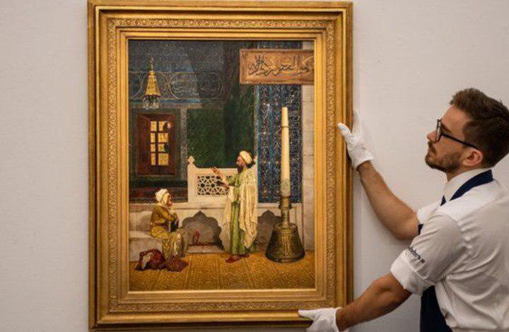 تصویر فروش ۴,۵ میلیون پوندی تابلوی «درس قرآن» در لندن