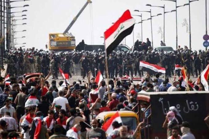 تصویر بیانیه بنیاد جهانی آیت الله العظمی شیرازی در واکنش به اعتراضات مردمی عراق