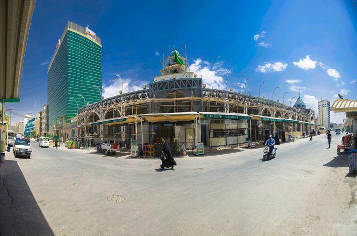 تصویر ازسرگیری طرح توسعه مقام امام زمان عجل الله تعالی فرجه الشریف در شهر مقدس کربلا