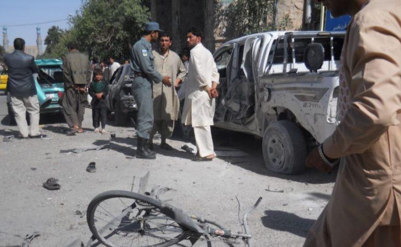 تصویر 9 زخمی در پی انفجار بمب در هرات افغانستان