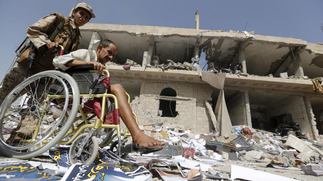 تصویر چهار و نیم میلیون یمنی بر اثر جنگ دچار معلول جسمی شدهاند