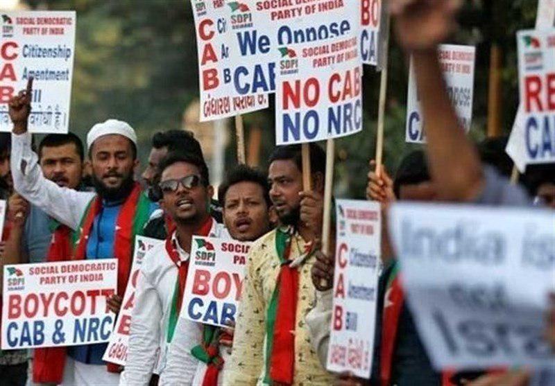 تصویر اعتراض مسلمانان هند به تصویب لایحه تبعیض مذهبی