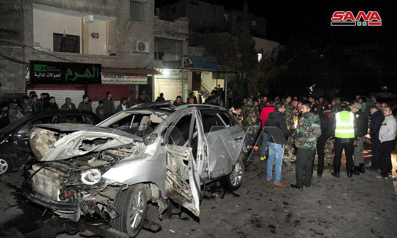 تصویر وقوع انفجار تروریستی در جنوب دمشق