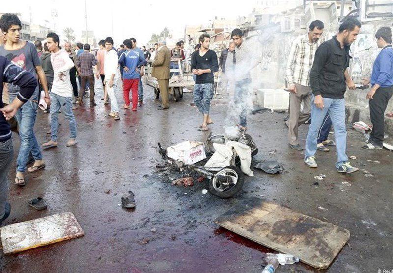 تصویر ۱۹ مجروح در نتیجه وقوع ۶ انفجار در بغداد