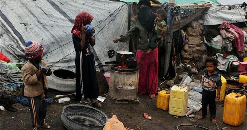 تصویر آواره شدن ۴ میلیون یمنی به دلیل حملات ائتلاف سعودی