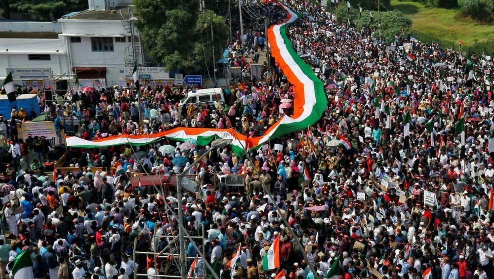 تصویر آغاز شناسایی چهره تظاهرکنندگان مسلمان هند با فنآوری جدید
