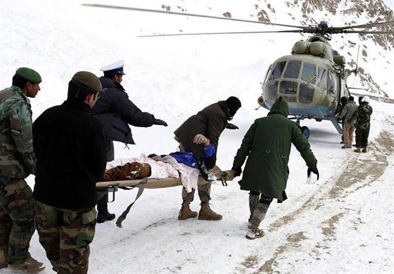 تصویر جان باختن ۳۹ نفر به دلیل شرایط بد آب و هوایی در افغانستان